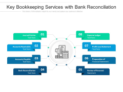 Key Bookkeeping Services With Bank Reconciliation Ppt PowerPoint Presentation File Good PDF