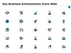 Key Business Achievements Icons Slide Ppt Ideas Backgrounds PDF