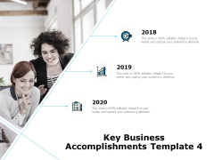 Key Business Achievements Key Business Accomplishments 2018 To 2020 Ppt Professional Model PDF