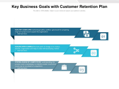 Key Business Goals With Customer Retention Plan Ppt PowerPoint Presentation Gallery Templates PDF