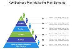 Key Business Plan Marketing Plan Elements Ppt PowerPoint Presentation Inspiration Example File Cpb Pdf