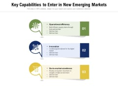 Key Capabilities To Enter In New Emerging Markets Ppt PowerPoint Presentation Icon Inspiration PDF