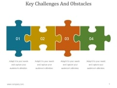 Key Challenges And Obstacles Ppt PowerPoint Presentation Picture