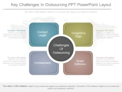 Key Challenges In Outsourcing Ppt Powerpoint Layout