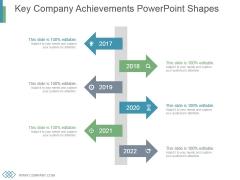 Key Company Achievements Powerpoint Shapes