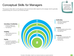 Key Competencies For Organization Authorities Conceptual Skills For Managers Formats PDF