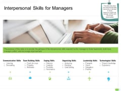 Key Competencies For Organization Authorities Interpersonal Skills For Managers Summary PDF