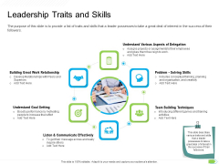 Key Competencies For Organization Authorities Leadership Traits And Skills Guidelines PDF