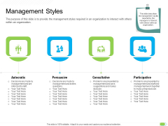 Key Competencies For Organization Authorities Management Styles Formats PDF