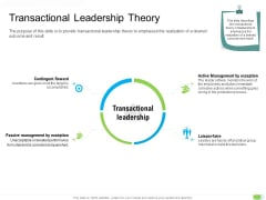 Key Competencies For Organization Authorities Transactional Leadership Theory Information PDF