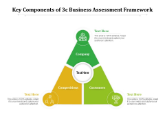 Key Components Of 3C Business Assessment Framework Ppt PowerPoint Presentation Professional Styles PDF