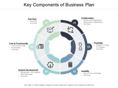 Key Components Of Business Plan Ppt PowerPoint Presentation Inspiration Vector