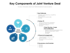 Key Components Of Joint Venture Deal Ppt PowerPoint Presentation Show Example File PDF