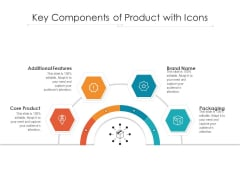 Key Components Of Product With Icons Ppt PowerPoint Presentation Gallery Graphics PDF