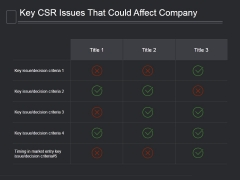 Key Csr Issues That Could Affect Company Ppt PowerPoint Presentation Templates