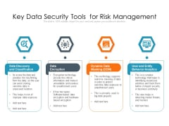 Key Data Security Tools For Risk Management Ppt PowerPoint Presentation Outline Guide PDF