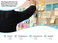 Key Dependencies For Business Success With Talent Management Ppt PowerPoint Presentation File Styles PDF
