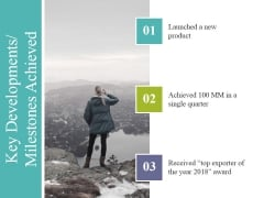 Key Developments Milestones Achieved Ppt PowerPoint Presentation Ideas Guide