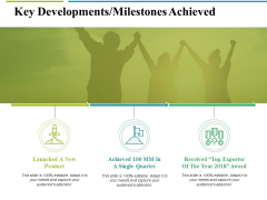 Key Developments Milestones Achieved Ppt PowerPoint Presentation Ideas Styles