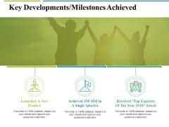 Key Developments Milestones Achieved Ppt PowerPoint Presentation Ideas Styles