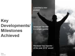 Key Developments Milestones Achieved Ppt PowerPoint Presentation Ideas Summary