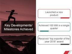 Key Developments Milestones Achieved Ppt PowerPoint Presentation Professional Show