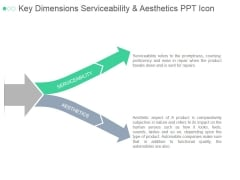 Key Dimensions Serviceability And Aesthetics Ppt PowerPoint Presentation Show