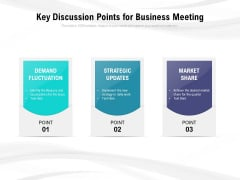 Key Discussion Points For Business Meeting Ppt PowerPoint Presentation Professional Layouts