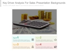 Key Driver Analysis For Sales Presentation Backgrounds