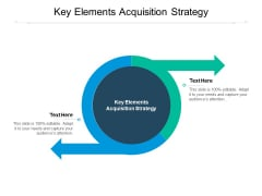 Key Elements Acquisition Strategy Ppt PowerPoint Presentation Model Infographics Cpb Pdf