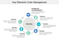 Key Elements Crisis Management Ppt PowerPoint Presentation Ideas Objects Cpb