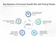 Key Elements Of Economic Growth Plan With Pricing Policies Ppt PowerPoint Presentation Gallery Mockup