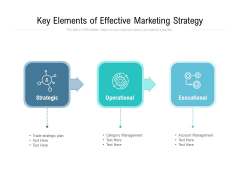 Key Elements Of Effective Marketing Strategy Ppt PowerPoint Presentation Infographics Inspiration