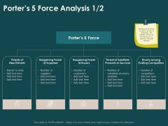 Key Elements Of Internal And External Factors Of Market Porters 5 Force Analysis Barrier Template PDF