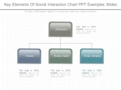 Key Elements Of Social Interaction Chart Ppt Examples Slides