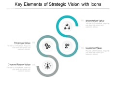 Key Elements Of Strategic Vision With Icons Ppt PowerPoint Presentation Infographic Template Samples
