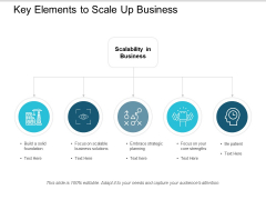 Key Elements To Scale Up Business Ppt PowerPoint Presentation Styles Background Images