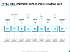Key Essential Information On The Corporate Business Card Diagrams PDF
