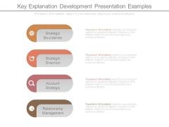 Key Explanation Development Presentation Examples