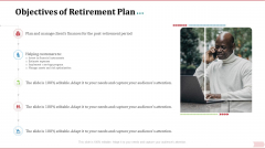 Key Factor In Retirement Planning Objectives Of Retirement Plan Topics PDF