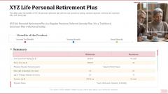 Key Factor In Retirement Planning XYZ Life Personal Retirement Plus Professional PDF
