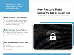 Key Factors Data Security For A Business Ppt PowerPoint Presentation Styles Layouts PDF