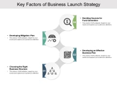 Key Factors Of Business Launch Strategy Ppt PowerPoint Presentation Styles Example