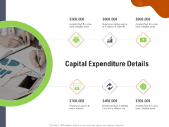 Key Features For Effective Business Management Capital Expenditure Details Ppt Summary Format PDF
