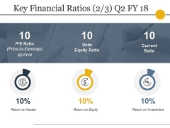 Key Financial Ratios Template Ppt PowerPoint Presentation Show Graphics Design
