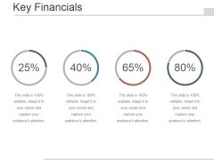 Key Financials Ppt PowerPoint Presentation Graphics