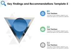 Key Findings And Recommendations Testing Ppt PowerPoint Presentation Ideas Smartart