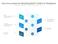 Key Focus Areas For Minimizing Staff Conflict At Workplace Ppt PowerPoint Presentation Portfolio Graphic Tips PDF