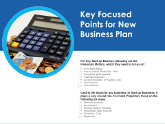 Key Focused Points For New Business Plan Ppt PowerPoint Presentation Icon Deck PDF