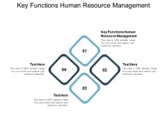 Key Functions Human Resource Management Ppt PowerPoint Presentation Layouts Vector